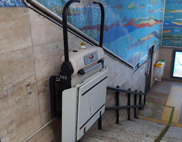 pedana per disabili (montascale a piattaforma) V65 Vimec